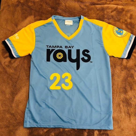 new product 31c4f ae4c8 Tampa Bay Rays Throwback Jersey